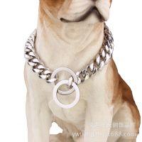 15mm新款欧美热卖钛钢不锈钢链条宠物用品狗链狗脖圈大型狗链