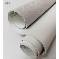 批发仿真皮皮革白色箱包皮料热压变色1.5厚仿真皮PU革