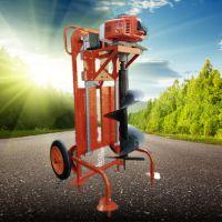 6.8马力双人操作汽油挖坑机 苹果园立柱埋桩机品牌 启航手推打眼机