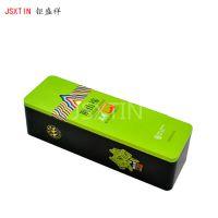 襄阳有机绿茶长条形马口铁茶叶盒