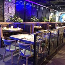 典艺坊简约现代大理石餐桌创意中餐湘菜茶餐厂家定制