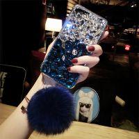 大气奢华iPhone7plus手机壳欧美潮牌8全包创意水钻毛球硅胶6/6s女