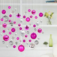 圣诞节装饰品彩球吊球屋顶装饰球挂件商场店铺卖场创意吊顶布置