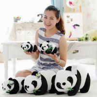 毛绒玩具熊猫 厂家批发一件代发国宝吃竹子大熊猫仿真 熊猫公仔