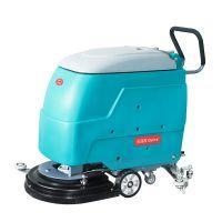 电子工厂地面保洁擦洗专用振瑞斯手推式电动洗地机