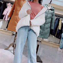 北京品牌折扣女装曼紫羽绒服冬装品牌折扣店批发多种款式