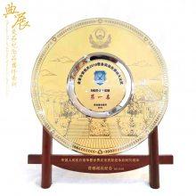纯铜文化宣传奖盘定制 平凉浮雕铜盘定制厂家 公司上市纪念品选什么礼品