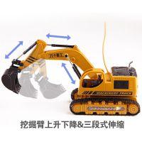 678八十重工遥控工程车玩具挖掘机遥控五通仿真合金工程车模型