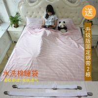 水洗棉旅行隔脏睡袋内胆床单超轻便携式酒店宾馆防脏纯棉双人床单