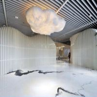 【旗禹】上海办公楼铝方通吊顶施工-铝方通尺寸-杨浦区铝方通吊顶厂家