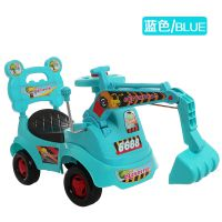 厂家批发 儿童挖掘机可坐可骑四轮滑行玩具扭扭车健身益智带音乐