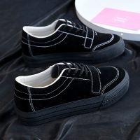 远波秋季新款帆布鞋女学生百搭韩款透气休闲原宿低帮板鞋个性A730