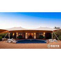 沙漠营地休闲度假豪华野奢帐篷酒店,120平方装配式膜结构民宿景区特色绿色环保房屋