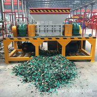 噪音低粉尘少废旧金属桶管材齿辊式破碎机 剪切力强废橡胶撕碎机