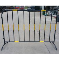 西安铁马,西安钢管铁马,黄黑移动护栏围挡