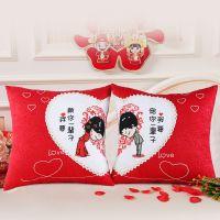 一件代发新款十字绣抱枕一对情侣卡通喜庆结婚抱枕客厅沙发十字绣
