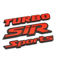 汽车改装车贴 涡轮增压turbo车标 sport金属车身贴 SIR车尾标