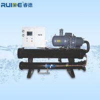 厂家直销 睿德100匹水冷式螺杆冷水机 单压缩机 螺杆冷冻机组