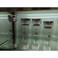 西安高端水杯专卖 杯中精品 西安希诺双层玻璃杯