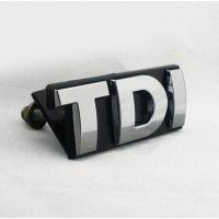大众TDI中网字母车贴高尔夫中网贴汽车中网装饰车标字母车贴