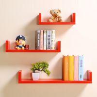 简约置物架客厅墙壁挂墙面隔板搁卧室多层书架免打孔墙上现代装饰