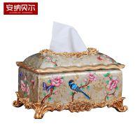 美式纸巾盒创意复古抽纸盒家用客厅餐厅茶几餐桌小纸抽盒餐巾纸盒