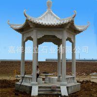 山东厂家生产户外石雕凉亭 遮阳避雨休闲亭子