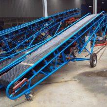 各种类型的皮带输送机 小型皮带爬坡输送机上料提升机