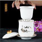复古创意陶瓷大肚杯 创意商务促销礼品陶瓷杯