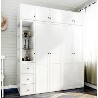 整体大衣柜定制简约现代木质经济组合柜子简易卧室组装欧式家具橱