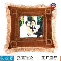 供应抱枕 空白抱枕耗材 热转印随意印图 高档植绒布料 工厂直销