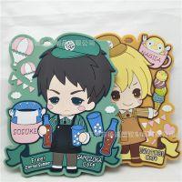 出口日本动漫卡通PVC滴胶箱包行李牌 PVC软胶日本公仔行李牌