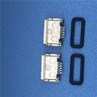 MICRO B型防水母座IP8 USB 5P贴片式SMT四脚定位柱H=2.85