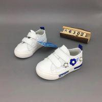 韩版小白鞋 男童跑步运动板鞋 真超纤皮柔软透气耐磨潮童鞋