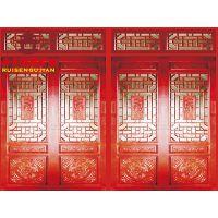 贵州贵阳仿古门窗厂家,瑞森中式实木门头定制价格
