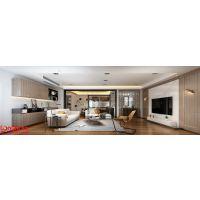 南京别墅装修案例-现代台式风格效果图-175平方米叠加别墅半包需要多少钱