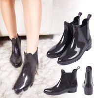 东得利雨靴女 揭阳塑胶雨鞋批发 时尚星空女式低筒尖头雨靴定制