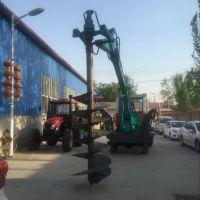 惠鑫中型挖掘机钻孔机采用挖掘机改装而成180°旋转摇臂液压支腿保障车辆在