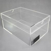 定做高档亚克力天地盖鞋盒 批发亚克力透明鞋盒供应出口名鞋鞋盒