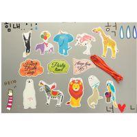 韩版彩旗批发热带雨林动物派对彩旗 生日节庆聚会纸质装饰品