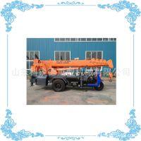 可移动三轮车随车吊 轮吊车起重机 油电双动力 建筑工地用小吊机