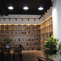 办公室实木置物架多层落地展示书柜客厅隔断装饰置物架铁艺收纳架