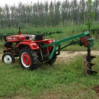 拖拉机带打眼机 四轮车带种植施肥刨窝机 道路绿化钻眼打洞机