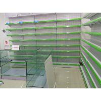医药货架设计定做 天津货药店柜台背柜 连锁店大药房货架子