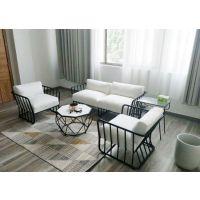 北欧铁艺沙发小户型商用沙发茶几定制