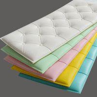 3d立体自粘墙贴靠床头防撞隔凉软包背景墙软垫防水加厚泡沫墙垫