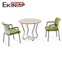 广东工厂直销 洽谈会议桌老板室时尚钢架圆桌家用休闲会客桌