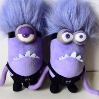 批发卑鄙的我神偷奶爸紫色小黄人公仔小紫人毛绒玩具恶魔黄豆豆