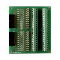 泓格带两个20芯扁平电缆的螺钉端子板DB-8025