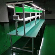 东莞工作台 带灯架工作台 双面双层装配台 包装工作台 顺锋厂家定做